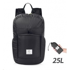 Naturehike ultralight sbalitelný batoh 25l 170g - černý