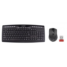 A4tech set klávesnice + myš 9200F, bezdrátová, V-Track optická myš, USB, CZ/US