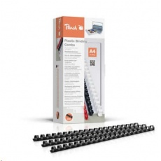 Peach Binding Combs 21 Rg A4 12mm, black