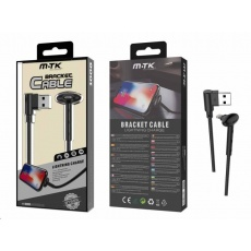 PLUS datový a nabíjecí kabel BT655, konektor Lightning, délka 1m, 2A, funkce stojánku, černá