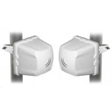 MikroTik CubeG-5ac60adpair, Wireless Wire Cube, 802.11ac/ad/n/a, 5 GHz, 60GHz, 1x10/100/1000 LAN, 256MB RAM, PoE in, L3