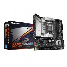 GIGABYTE MB Sc LGA1200 B560M AORUS PRO AX, Intel B560, 4xDDR4, 1xDP, 1xHDMI, WI-FI, mATX