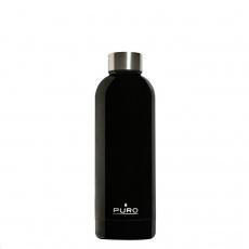 Puro Hot&Cold láhev z nerezové oceli, double wall, 500ml černá