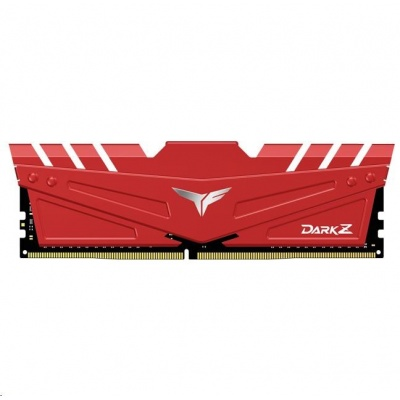 DIMM DDR4 16GB 3200MHz, CL16, (KIT 2x8GB), T-FORCE DARK Z, Red