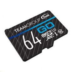 TEAM MicroSDXC karta 64GB GO CARD U3 (R:90MB/s, W:45MB/s)