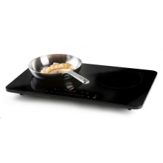 DOMO DO333IP Indukční vařič dvouplotýnkový 3500W, 61x37cm, LCD