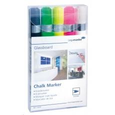Legamaster Popisovače na skleněné tabule, různé barvy, sada 5 kusů