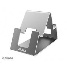 AKASA stojan Aries Pico, hliníkový stojan pro mobil a tablet, šedá