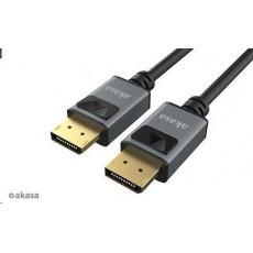 AKASA kabel DisplayPort na DisplayPort, 8K@60Hz, 5K@60Hz, 4K@144Hz, v1.4, 2m