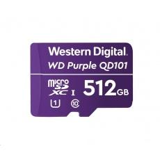 WD MicroSDXC karta 512GB Purple WDD512G1P0C Class 10 (R:100/W:60 MB/s)