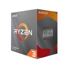 CPU AMD RYZEN 3 3100, 4-core, 3.6 GHz (3.9 GHz Turbo), 18MB cache, 65W, socket AM4, tray