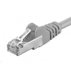 PREMIUMCORD F/UTP 15m CAT.6 patch kabel awg26 šedá