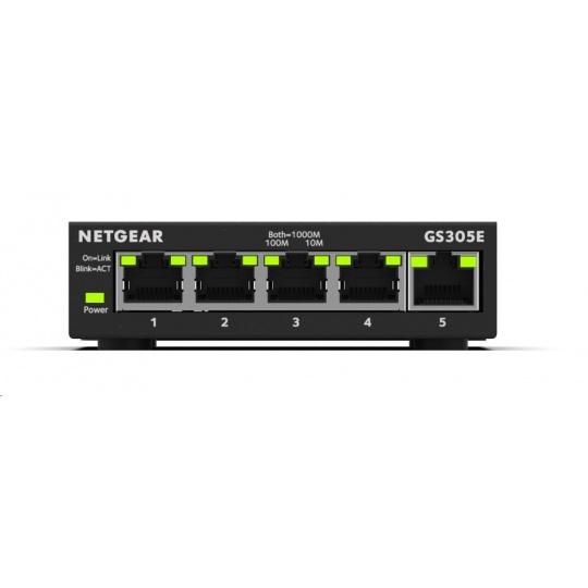 Netgear GS305E 5-port Gigabit Plus Switch, smart managed