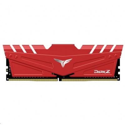DIMM DDR4 32GB 2666MHz, CL16, (KIT 2x16GB), T-FORCE DARK Z, Red
