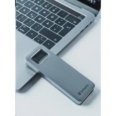 VERBATIM externí SSD 512GB, Executive Fingerprint Secure SSD, USB 3.2 Gen 1/USB-C, (W:356 MB/s, R:344 MB/s), šedá