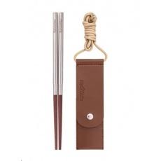 Naturehike skládací čínské hůlky dřevo/nerez 18g