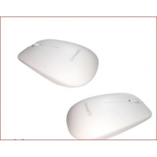 ACER  Bluetooth Mouse White - BT 5.1, 1200 dpi, 102x61x32 mm, 10m dosah, 1xAA battery, Win/Chrome/Mac, Retail Pack