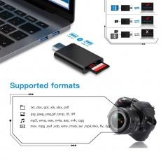 PLATINET čtečka paměťových karet SD a micro SD FAST, MICRO SD/TF SD 4.0 UHSII USB 3.0