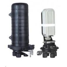 XtendLan Spojka, optická, vodotěsná, zemní/zeď/stožár, 96 vláken 4x12x2, 4 prostupy, matice, 415x206mm