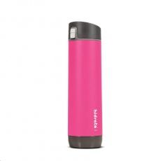 HidrateSpark Steel – chytrá lahev s brčkem, 620 ml, růžová
