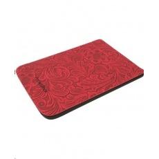 POCKETBOOK pouzdro Shell red flowers, červené