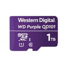 WD MicroSDXC karta 1TB Purple WDD100T1P0C Class 10 (R:100/W:60 MB/s)