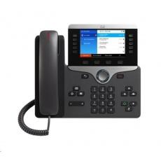 "Cisco CP-8851-3PCC-K9=, VoIP telefon, 10line, 2x10/100/1000, 5"" displej, Bluetooth, USB, PoE"