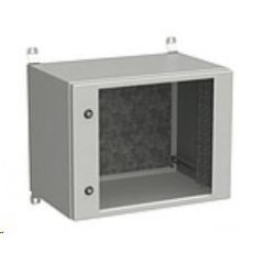 Solarix rozvaděč nástěnný venkovní LC-20 9U 600x400mm, dveře sklo, LC-20-9U-64-11-G