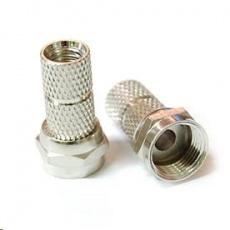Konektor F pro koaxiální kabel o průměru 6mm, balení 100ks