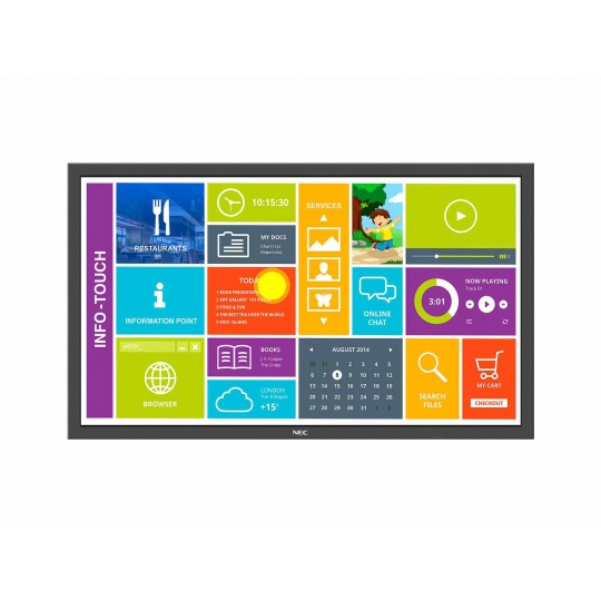 "NEC LFD 48"" MuSy P484 SST MultiTouch LCD,S-PVA LED,1920x1080,4000:1,700cd/m2,8ms, DP+DVI+HDMI+VGA+BNC"
