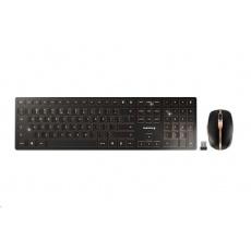CHERRY set klávesnice + myš DW 9000 SLIM, bezdrátová, EU, černá