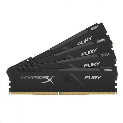 DIMM DDR4 128GB 2666MHz CL16 (Kit of 4) KINGSTON HyperX FURY Black