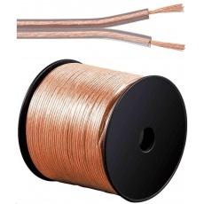 PremiumCord Kabely na propojení reprosoustav 100% CU měď 2x0,75mm 100m