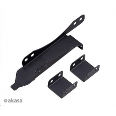 AKASA držák PCI slotu, pro 120mm ventilátor, černá
