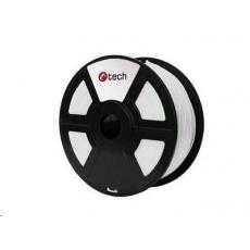 C-TECH Tisková struna (filament) ABS, 1,75mm, 1kg, bílá