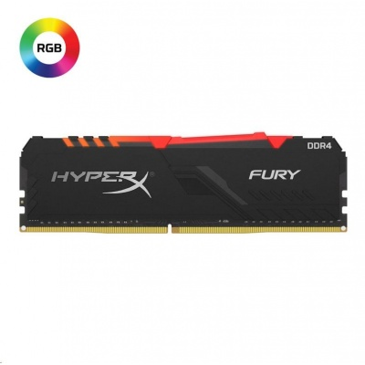 DIMM DDR4 8GB 3600MHz CL17 KINGSTON HyperX FURY Black RGB
