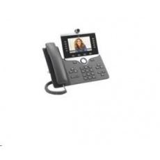 """Cisco CP-8865-3PCC-K9=, VoIP telefon, 10line, 2x10/100/1000, 5"""" displej, Wi-Fi, kamera, Bluetooth, 2xUSB, PoE"""