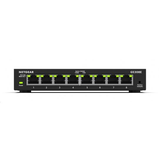 Netgear GS308E 8-port Gigabit Plus Switch, smart managed