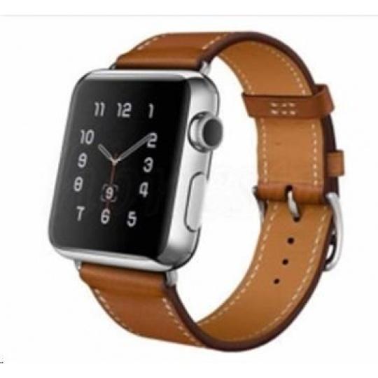 eses kožený řemínek 42mm hnědý pro apple watch
