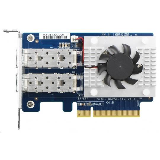QNAP QXG-25G2SF-CX4 Síťová rozšiřující karta sítě 25 GbE se dvěma porty SFP28