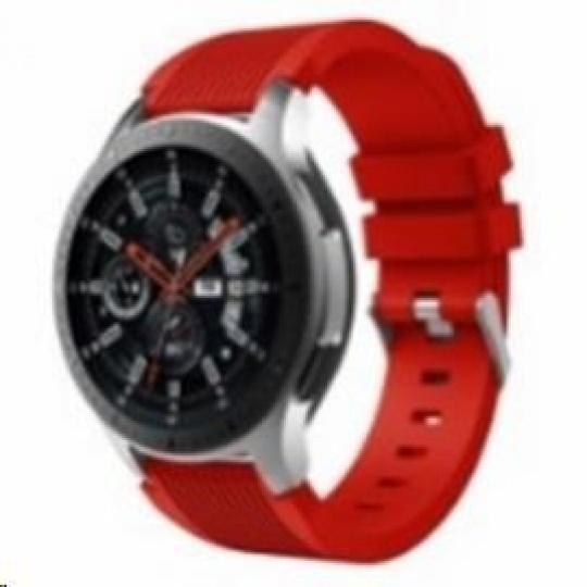 eses silikonový řemínek červený pro samsung galaxy watch 46mm/samsung gear s3