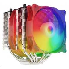 SilentiumPC chladič CPU Grandis 3 EVO ARGB, ultratichý, 1x140mm a 1x120mm fan, 6 heatpipes, PWM, pro Intel i AMD