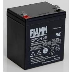 Baterie - Fiamm 12 FGH 23 (12V/5,0Ah - Faston 250), životnost 5let