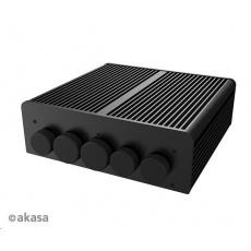 AKASA case Pascal TN, waterproof fanless case, černá