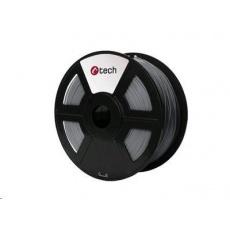 C-TECH Tisková struna (filament) ABS, 1,75mm, 1kg, stříbrná