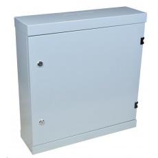"""Nástěnný rozvaděč vertikální 19"""" 2U+4U, hloubka 15,5cm, šedý, antivandal = vyrobeno ze silného 1,2mm plechu + 2x zámek"""