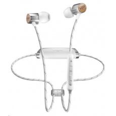 MARLEY Uplift 2 Wireless BT - Silver, bezdrátová sluchátka do uší s ovladačem a mikrofonem