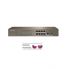 Tenda TEG5310P-8-150W - L3 managed Gigabit PoE AT Switch, 8x PoE AF/AT 10/100/1000Mbps, 1xSFP 1Gbps