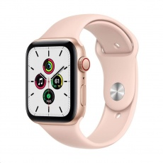Apple Watch SE GPS + Cellular, 40mm Gold Alum. Case + Pink Sand Sport Band - Regular