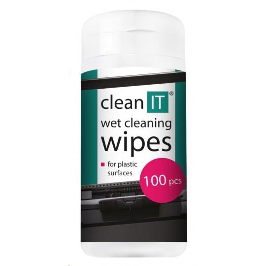 CLEAN IT Čistící ubrousky mokré na plasty 100ks